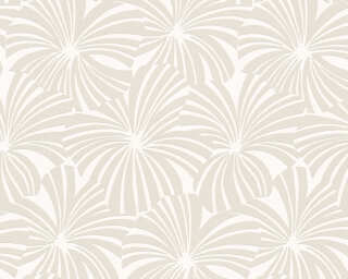 Esprit Home Wallpaper «Flowers, Cream, Grey» 327591