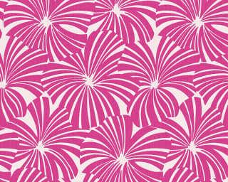 Esprit Home Wallpaper «Flowers, Grey, Purple, Red» 327594