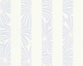 Esprit Home papier peint «Rayures, blanc, bleu, crème» 327602