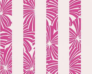 Esprit Home Wallpaper «Stripes, Grey, Purple, Red» 327603