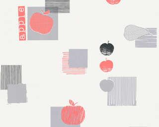 A.S. Création Wallpaper «Cottage, Black, Grey, Red» 327621