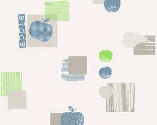 A.S. Création Wallpaper «Cottage, Blue, Green, Grey» 327622