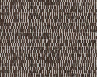 A.S. Création Wallpaper «Uni, 3D, Black, Brown, Metallic, Silver» 327744