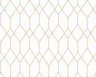 Esprit Home Wallpaper «Graphics, Gold, Metallic, White» 327921