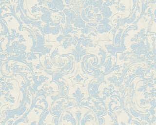 A.S. Création Wallpaper «Baroque, Blue, Grey, Metallic» 328312