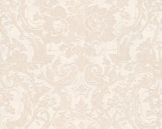 A.S. Création Wallpaper «Baroque, Beige, Metallic, White» 328314