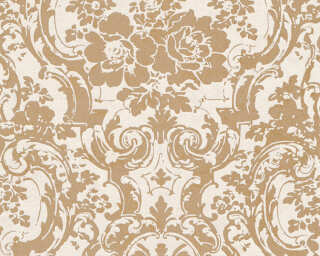 A.S. Création Wallpaper «Baroque, Beige, Gold, Metallic, White» 328316