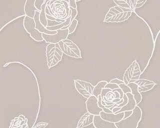 A.S. Création Wallpaper «Flowers, Beige, Brown, Metallic» 328324