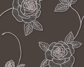 A.S. Création Wallpaper «Flowers, Beige, Brown, Metallic» 328326