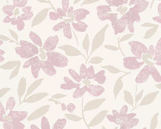 A.S. Création Wallpaper «Flowers, Beige, Metallic, Red» 328331