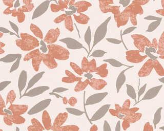 A.S. Création Wallpaper «Flowers, Beige, Cream, Metallic» 328334