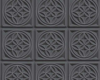 A.S. Création Wallpaper «Graphics, 3D, Black, Metallic» 329801