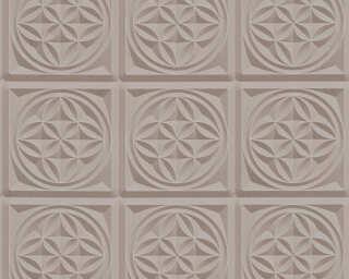 A.S. Création Wallpaper «Graphics, 3D, Brown, Metallic» 329803