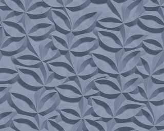 A.S. Création papier peint «Floral, 3D, bleu» 329813