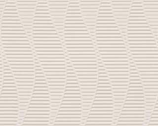A.S. Création papier peint «Graphique, 3D, gris, métallique» 329822