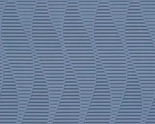 A.S. Création papier peint «Graphique, 3D, bleu, métallique» 329823