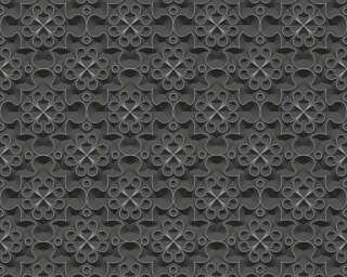 A.S. Création Wallpaper «Graphics, 3D, Black, Metallic, Silver» 329831