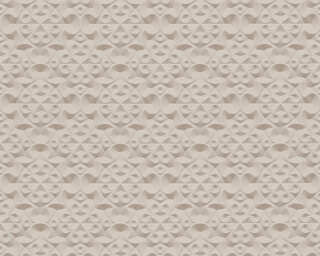 A.S. Création Wallpaper «Graphics, 3D, Beige, Brown, Metallic» 329834