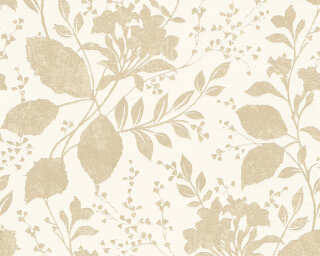A.S. Création Wallpaper «Cottage, Flowers, Beige, Bronze, White» 329861