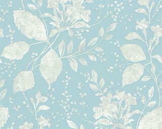 A.S. Création флизелин «Деревенский стиль, Цветы, Металлик, Серыe, Синие» 329862