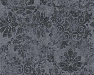 A.S. Création papier peint «Baroque, gris, métallique, noir» 329872