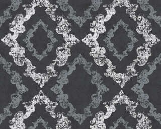 A.S. Création Wallpaper «Cottage, Black, Metallic, White» 329895