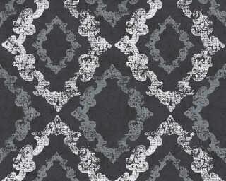 A.S. Création papier peint «Maison, blanc, métallique, noir» 329895