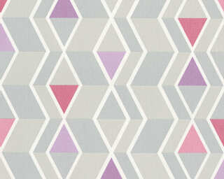 A.S. Création Tapete «Grafik, Grau, Violett» 329932