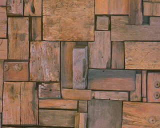 A.S. Création Wallpaper «Wood, Brown, Coloured» 329941