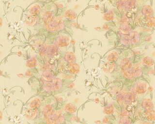 ORIGINALS Wallpaper «Cottage, Floral, Beige, Gold, Green, Metallic» 329952