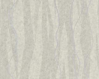 A.S. Création Wallpaper «Stripes, Grey, Metallic, Silver» 329993