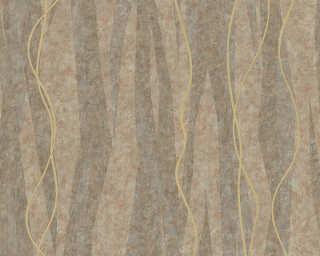 A.S. Création флизелин «Полосы, Золото, Коричневыe, Металлик» 329997