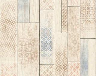 A.S. Création Wallpaper «Tile, Beige, Blue, Brown» 330893