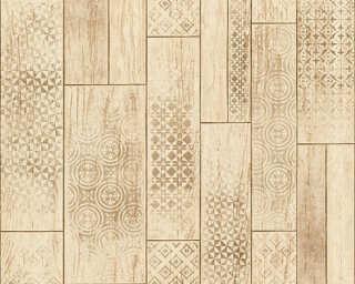 A.S. Création Wallpaper «Tile, Beige, Brown» 330894
