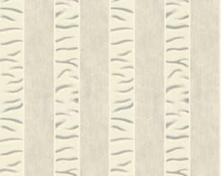 ORIGINALS Tapete «Streifen, Grau, Metallics, Weiß» 333212