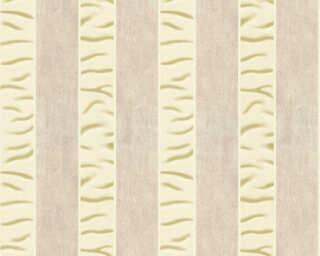 ORIGINALS papier peint «Rayures, beige, crème, métallique» 333213