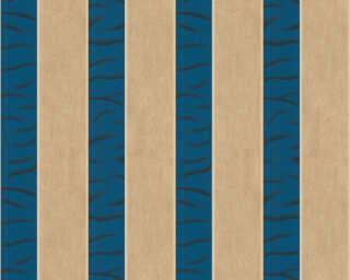 ORIGINALS Tapete «Streifen, Beige, Blau, Gold, Metallics» 333214