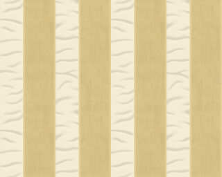 ORIGINALS papier peint «Rayures, beige, crème, métallique, or» 333216