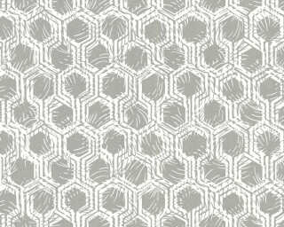 Architects Paper Wallpaper «Graphics, Metallic, White» 333271