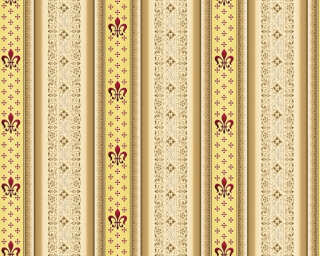 A.S. Création Wallpaper «Stripes, Beige, Brown, Red» 335421