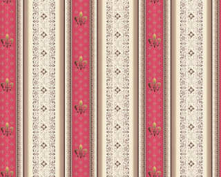 A.S. Création Wallpaper «Stripes, Brown, Cream, Red» 335423