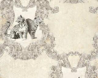 A.S. Création papier peint «Baroque, gris, noir» 335431