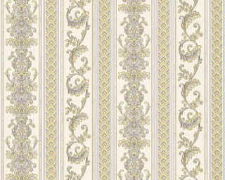 A.S. Création Wallpaper «Stripes, Blue, Cream, Yellow» 335472