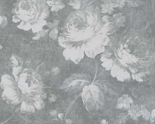 A.S. Création Wallpaper «Flowers, Grey» 336041