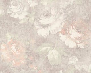 A.S. Création Wallpaper «Cottage, Flowers, Brown, Cream, Red» 336042