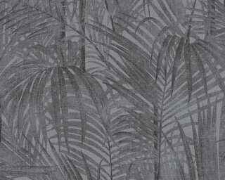 A.S. Création Wallpaper «Floral, Black, Grey, Metallic» 336061
