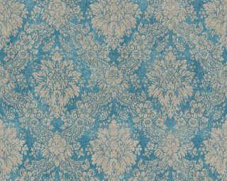 Livingwalls papier peint intissé «Baroque, bleu, marron, métallique» 336075
