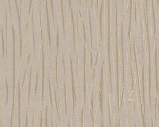 A.S. Création Wallpaper «Stripes, Beige, Cream, Metallic» 336392
