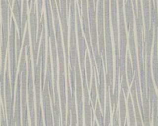 A.S. Création papier peint «Rayures, argent, beige, gris, métallique» 336393