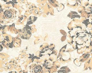 A.S. Création papier peint «Fleurs, argent, beige, bronze, métallique» 338642